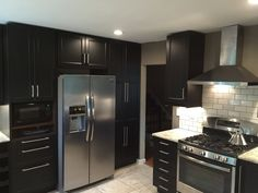 Another view from our customer's IKEA kitchen. LAXARBY doors and LUFTIG hood.