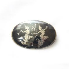 Siam Sterling Silver Brooch