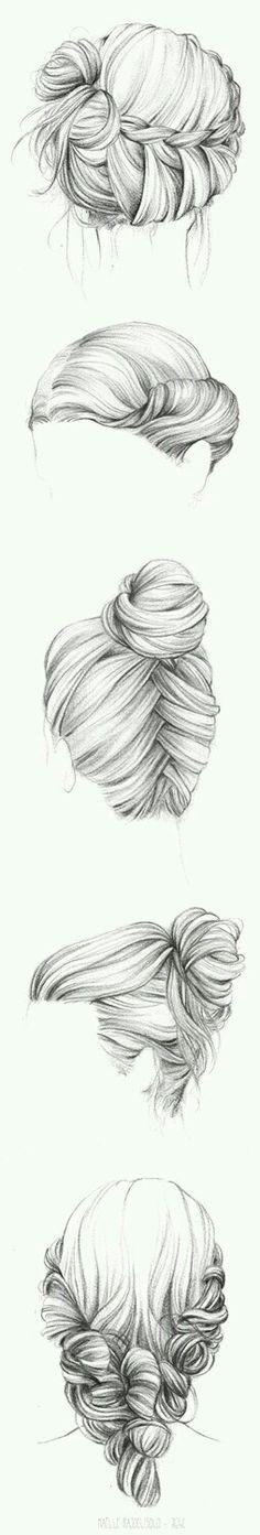 hair sketches drawing sketch hairstyles drawings ak0 realistic pretty cool draw human луна как рисунки рисовать на волосы male
