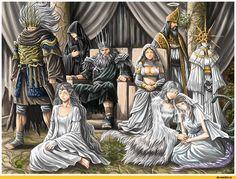 Dark Souls,фэндомы,Nameless King,DSIII персонажи,Dark Souls 3,Filianore,velka,Lord of Cinder Gwyn,DS персонажи,Gwynevere,lloyd,Crossbreed Priscilla,Company Captain Yorshka,Gwyndolin,DS art