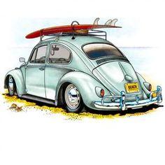 Retro cars illustration vw bus New ideas Auto Illustration, Carros Retro, Vw Beach, French Images, Kdf Wagen, Vw Vintage, Clipart Vintage, Bmw Autos, Vw Cars