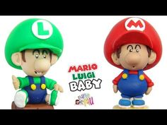 PROFESIONAL✔ BABY Mario & Luigi Bros Polymer clay / Arcilla polimérica - YouTube