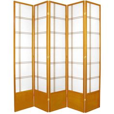Oriental Furniture 7 ft. Tall Double Cross Shoji Screen - 5 panel - Honey, Beige & Tan