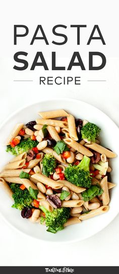 Chef Bill Telepan's take on on classic pasta salad, with broccoli, cannelini beans and kalamata olives.