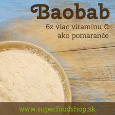 Baobab powder contains 6 times more vitamin C than oranges. #baobab #superfruits #superfoods