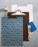 want to do this for my laundry room doors. cover with clip boards for bella and kates art and work.