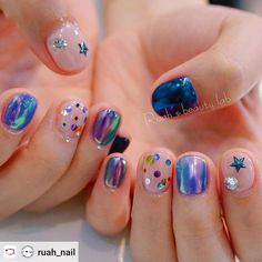ailArtist 지나언니's 네일인 마켓 on Instagra – – Uñas Coffing Maquillaje Peinados Tutoriales de cabello Gel Manicure Designs, Manicure E Pedicure, Nail Designs, Dream Nails, Love Nails, Gorgeous Nails, Pretty Nails, Kawaii Nails, Minimalist Nails