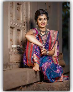 Kashta Saree, Sarees, Marathi Saree, Umbrella Painting, Nauvari Saree, Indian Gowns Dresses, Saree Photoshoot, Saree Look, South Indian Bride