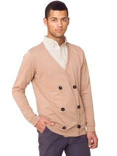 Fine Jersey Double-Breasted Cardigan | Sweatshirts & Outerwear | Sale's Men | American Apparel
