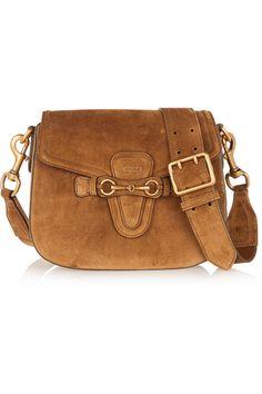 533df75fec9 Gucci - Lady Web medium suede shoulder bag