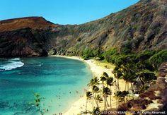 Hanauma Bay (volcano beach), in Honolulu, Hawaii