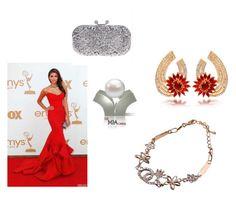 La Mia Cara by seldy-enes on Polyvore featuring Mode with La Mia Cara Jewelry & Accessories #lamiacara #jewelry #accessories