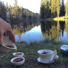 Early morning shu pu'er by Piute Lake in Emigrant Wilderness. Wish we were still there! #roguetea #teaoutside #backpacking #outdoors