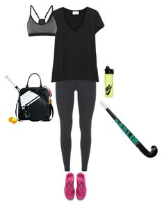 """Tennis jogging and hockey: my loves"" by dantevandenabeele ❤ liked on Polyvore featuring NIKE and American Vintage"