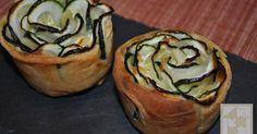 Rosas de calabacín y queso de cabra | Cocina