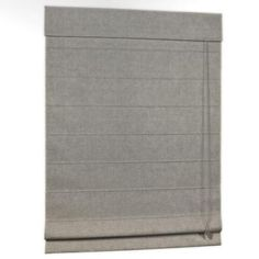 HOMEbasics Gray Linen Look Thermal Fabric Roman Shade (Price Varies by Size)