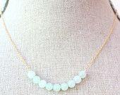 Pale Jade Semi Precious Necklace