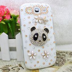 Handemade Gold Panda Bling Diamond Case Cover for Samsung Galaxy S3 I9300   eBay