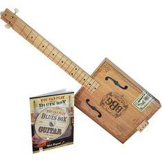 Hinkler - Electric Blues 3-String Cigar Box Electric Guitar