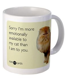 Another great find on #zulily! 'Emotionally Available' Mug by Someecards #zulilyfinds