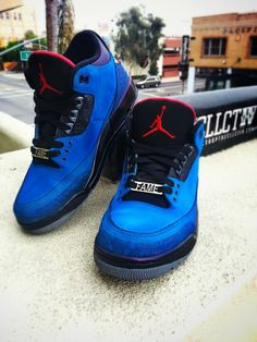 """Air Jordan 3 """"Eminem"""" Customs"""
