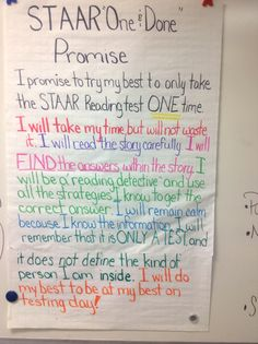 STAAR reading one and done promise 8th Grade Reading, 8th Grade Ela, Reading Test, Teaching Reading, Learning, Staar Test, Student Teaching, Teaching Tools, Reading Anchor Charts
