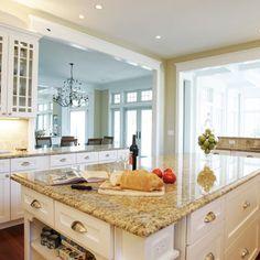 White Kitchen Granite Countertops blue pearl granite countertop : white kitchen cabinets with
