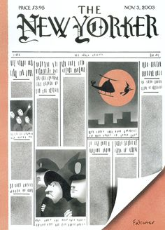 "The New Yorker - Monday, November 3, 2003 - Issue # 4050 - Vol. 79 - N° 33 - Cover ""Code Orange"" by Ian Falconer"