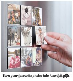 Create personalised Christmas gifts for your loved ones. Print your photos on brilliant Magnets. Make your fridge cooler❄️! Download our App now.