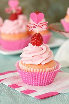 Pink Velvet Raspberry Cupcakes From Kathleen Of Yummy Crumble Are An Adorable And Delicious Valentines Or Tea Party Treat Your Family Will Love