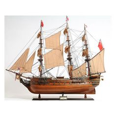 This amazingly detailed model of the tall ship HMS Surprise is an elegant accent piece for anyone who pines for the sea. #madeinusa #mainstreetrevolution