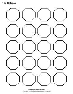 Printable Octagon Templates