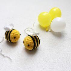 crochet bee free amigurumi pattern, kostenlose Häkelanleitung Biene,  Instagram Kikalite, arı tığ işi örgü,  Schachenmayr Catania
