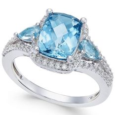) and White Topaz ct.) Ring Take her breath away with the beautiful blue enchantment of this cushion- and pear-shape London blue topaz ct.) ring beautifully accented with round-shape Purple Rings, White Topaz Rings, Blue Topaz Ring, Purple Jewelry, Amethyst Jewelry, Silver Rings, London Blue Topaz, Fantasy Jewelry, Stone Jewelry