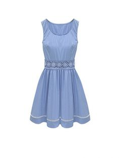 New In O Neck Sleeveless A Line Dresses