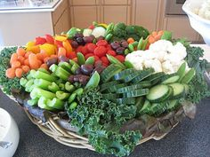 Tired of the same old veggie tray. This is great!