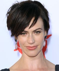 Maggie Siff Hairstyle - Short Straight Casual. Click to try on this hairstyle and view hair info and styling steps!