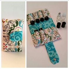 Holds 8 5 ML ROLLERBALL bottles - Essential Oils Rollerball Carrying Case - choose your fabric