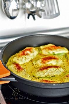 ¡Sano y de rechupete!: Calabacines rellenos y gratinados (receta sin horno)
