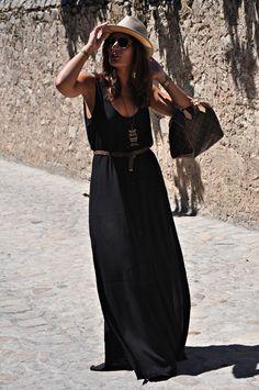 maxi vestidos negros boho - Buscar con Google