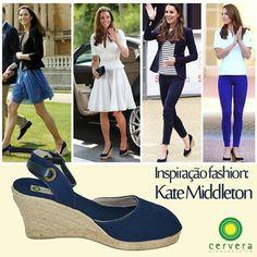 A princesa Kate é sem dúvida alguma uma das principais referências de moda da atualidade. Inspire-se nela e aposte sem medo na anabela espadrille para qualquer ocasião!