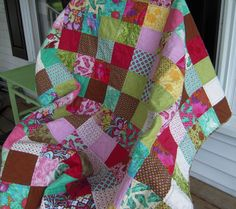 Bright and Bold Patchwork Quilt