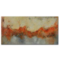 Textural Red Gray Painting Textural abstract Abstract by Andrada