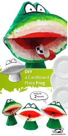 DIY a Cardboard Plate Frog