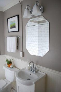 Joyful Modern Bright Bathroom Design White Wooden Beadboard Bathroom