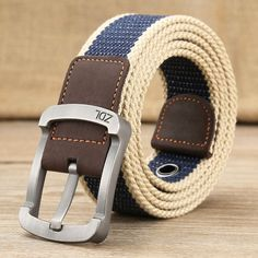 MEDYLA military belt outdoor tactical belt men&women high quality canvas belts for jeans male luxury casual straps ceintures Real Leather Belt, Leather Belts, Men's Belts, Leather Wallet, Metal Buckles, Belt Buckles, Military Fashion, Mens Fashion, Men Accessories