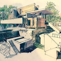 To inspire ypu on your best projects, we select architecture projects for you to see. Discover more architecture projects here. Modern Architecture Design, Architecture Sketchbook, Architecture Student, Concept Architecture, Building Sketch, Building Concept, Modern Architects, Instagram, Drawing Ideas