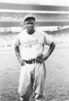 This is Jackie Robinson. He was an American baseball player who became the first African American to play in Major League baseball.  He is a hero because he fought bravely against prejudice even when it became personally dangerous for him.  He is a role model of courage as well as talent.