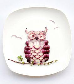 Food Art: Onion Owl  #food_art, #shopcookserve,