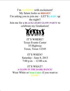 Glow in the dark Graduation invitation